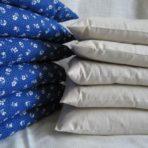 Dinkel-Lavendel-Kissen 35 x 45 cm, mit Bezug aus Baumwolle im Doppelpack